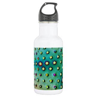 Green/Multi Dots Water Bottle