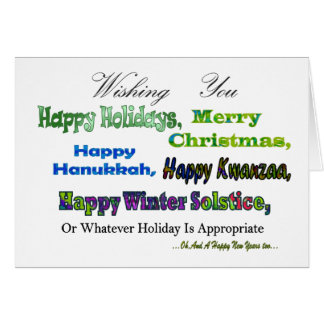 Green Multi holiday greetings Note Card