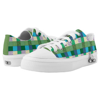 Green Multi Print Shoes