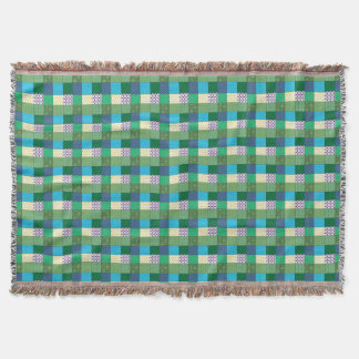 Green Multi Print Throw