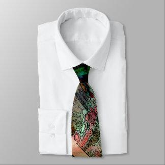 Green Multicolored Tie