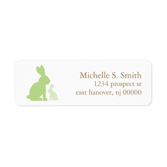 Green Mum and Baby Rabbits