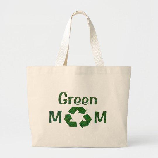 green mum large tote bag