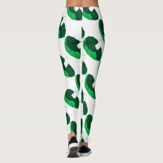 Green mushroom leggings