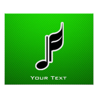 Green Music Note Posters
