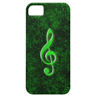 Green Music Note Symbol iPhone 5 Case