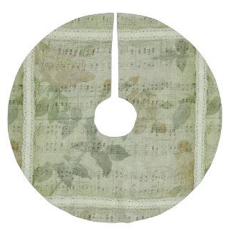Green Music Sheet Christmas Tree Skirt
