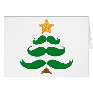 Green Mustache Tree Card