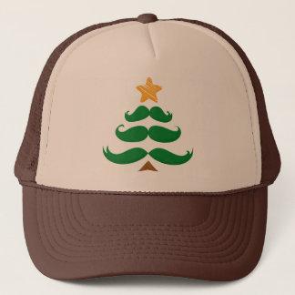 Green Mustache Tree Trucker Hat