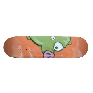green muzzle green pig skateboard