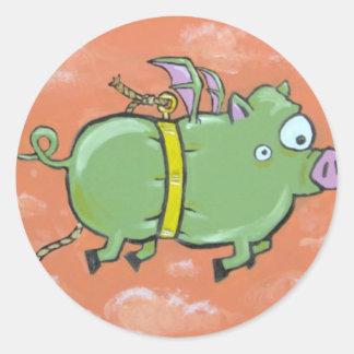 green muzzle green pig sticker