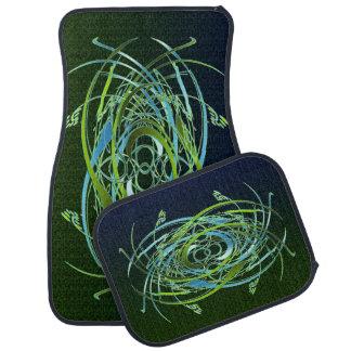 Green n Blue Swirls Car Mat