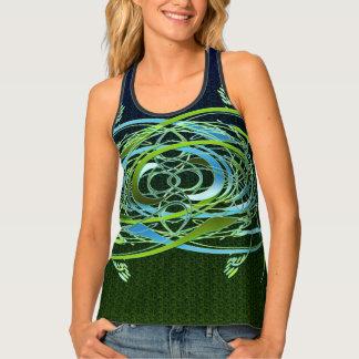 Green n Blue Swirls Tank Top