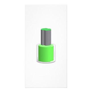 Green Nail Polish Photo Greeting Card
