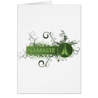 Green Namaste English Card