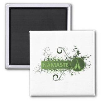 Green Namaste English Magnet