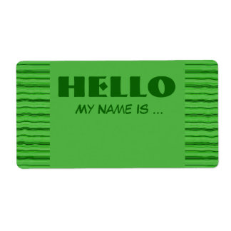 green  name badge