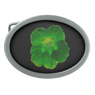 Green Nasturtium Belt Buckle
