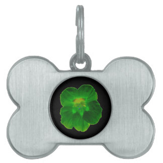 Green Nasturtium Pet Tag