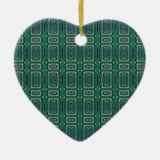 Green Native American Fabric Design Aztec Pattern Ornaments