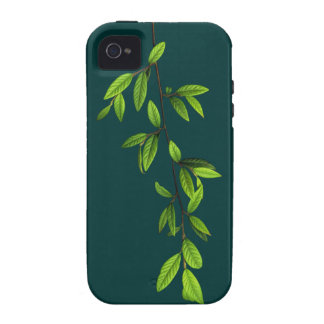 Green Nature l Twig of Leaves Case For The iPhone 4