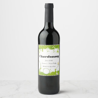 Green Nature personalised wine bottle label