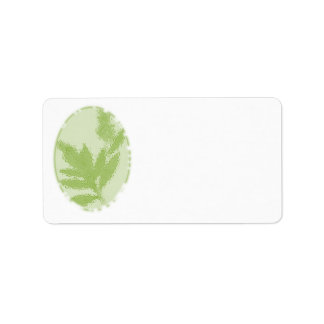 Green, Nature Themed Address Labels