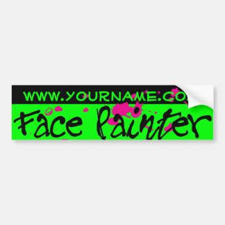 Green Neon Bumper Sticker