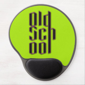 Green Neon Old School Gel Mouse Pad