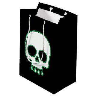 Green Neon Skull Gift Bag