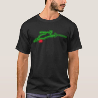 Green Neon Slalom Water Skier T-Shirt