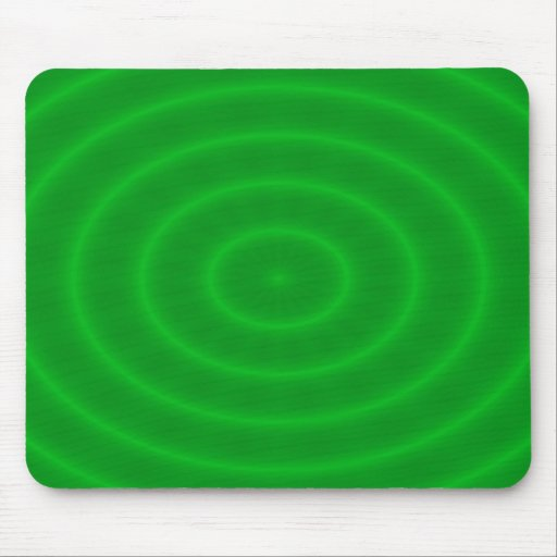 Green Neon Spiral Abstract Pattern Mouse Pad