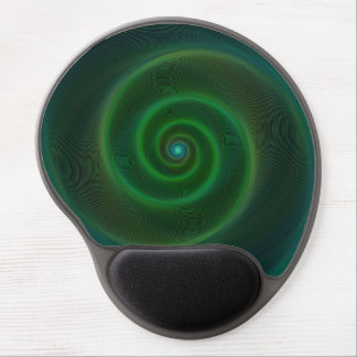 Green neon spiral gel mouse pad