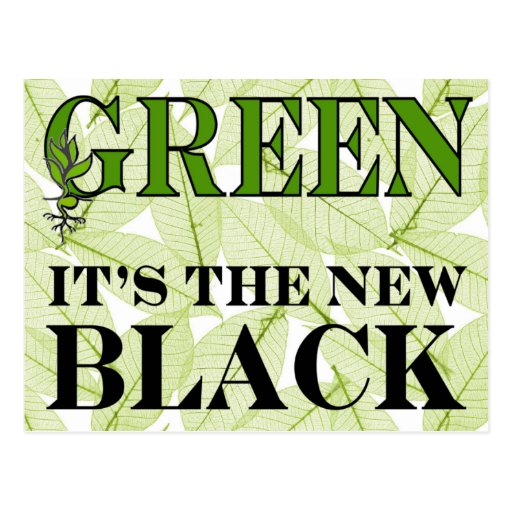 Green New Black Postcard