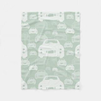 Green Nissan Figaro silhouette fleece blanket