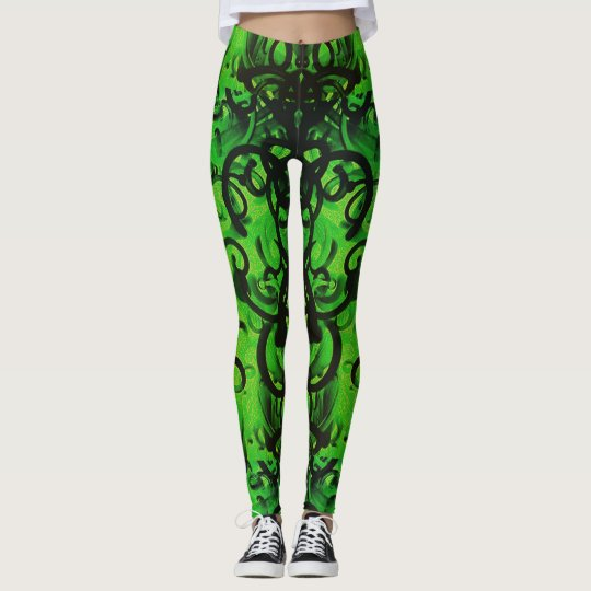 Green Noodles Leggings