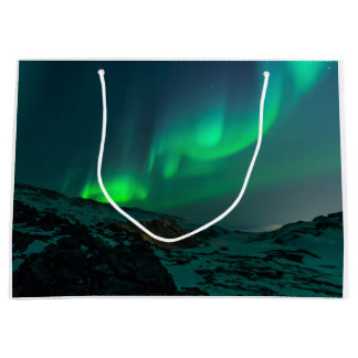 Green Northern Lights Large Gift Bag