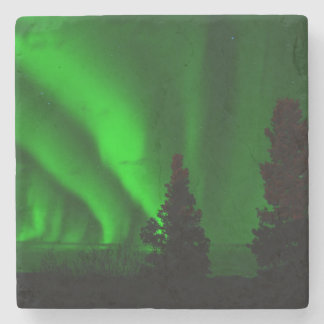 Green Northern Lights Stone Coaster