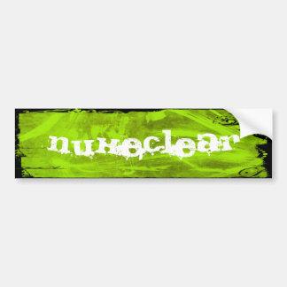 Green Nuke Bumper Sticker Car Bumper Sticker