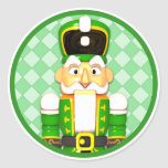 Green Nutcracker Christmas Holiday Stickers