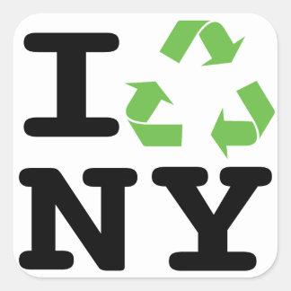 Green NY Square Sticker