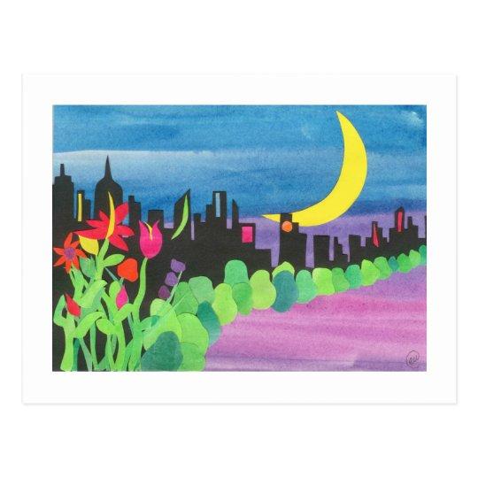 Green NYC at Night II 07-09 Postcard