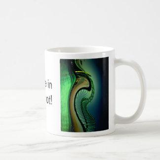 Green ocean wave basic white mug
