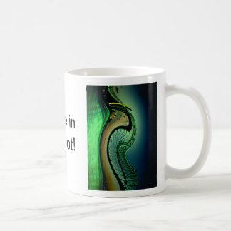 Green ocean wave coffee mug