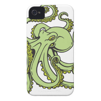 Green Octopus Case-Mate iPhone 4 Case