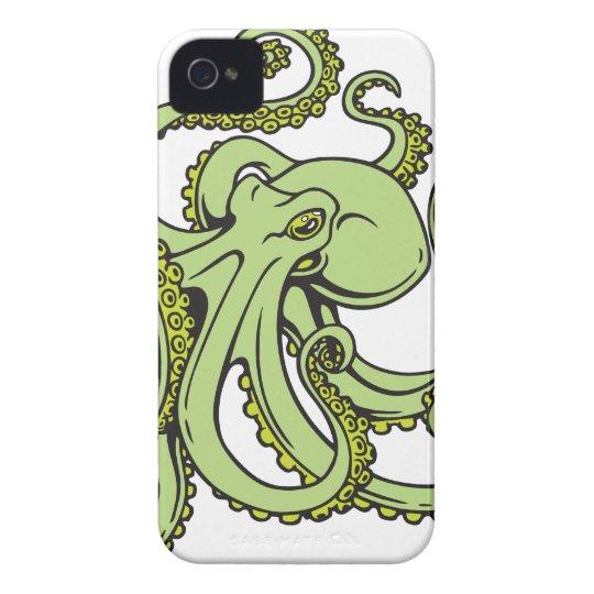 Green Octopus Case-Mate iPhone 4 Case