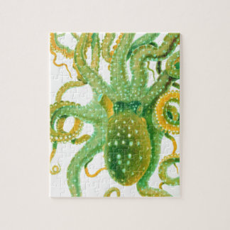 green octopus jigsaw puzzle