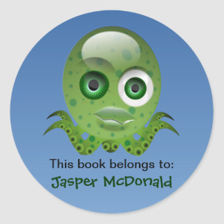 Green Octopus Personalised Labels
