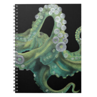 Green Octopus Spiral Notebook