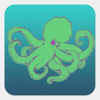 Green Octopus Sticker